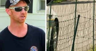 Hij installeert een elektrische afrastering om kinderen weg te houden van zijn grasveld: deze man verdeelt de meningen