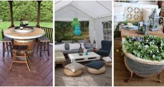 Vous souhaitez décorer le jardin sans dépenser une fortune ? Recyclez les vieux objets avec créativité