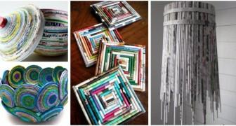 Vecchi giornali e riviste: scopri come riciclarli con tanti progetti super-creativi