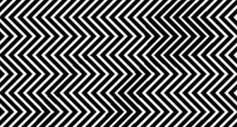 Riesci a vedere qualcosa tra le righe bianche e nere? Mettiti alla prova con questa illusione ottica