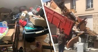 Gli inquilini lasciano la casa piena di rifiuti: il proprietario glieli scarica davanti alla porta