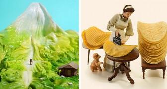 Cet artiste japonais crée des dioramas spectaculaires avec des objets courants : ce sont de véritables mondes miniatures