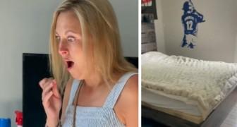 Mamma sposta il letto del figlio adolescente e trova un mucchio di spazzatura sul pavimento