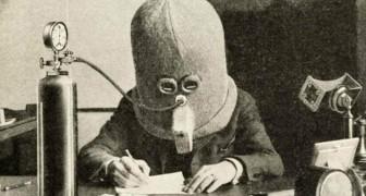 Nel 1925 un inventore creò questo enorme casco per favorire la concentrazione e bloccare le distrazioni