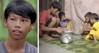 Si ritrova solo a mantenere la famiglia: 13enne fa da padre ai suoi fratellini più piccoli