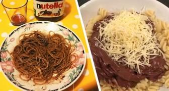 Pasta alla Nutella: la bizzarra accoppiata che è diventata una vera moda sul web
