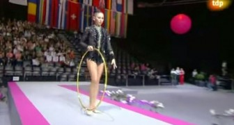 What this gymnast can do with the hoop leaves the audience breathless !