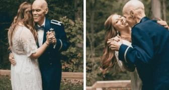 Diese zukünftige Braut organisierte ein Fotoshooting, um den Hochzeitstanz mit ihrem kranken Vater zu fotografieren