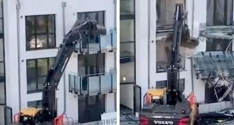 Un entrepreneur détruit un bâtiment à peine construit : il n'avait pas reçu de paiement pour les travaux effectués