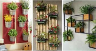 Décorez les murs avec des jardinières verticales : beaucoup d'idées à réaliser avec le DIY