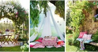 Relax in giardino: tanti spunti per allestire angoli chic e romantici