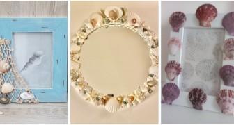 Les meilleures idées pour décorer des cadres avec des coquillages : laissez-vous inspirer