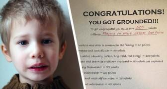 Sorprende suo figlio a usare il telefono a letto: lo punisce con un ingegnoso sistema a punti