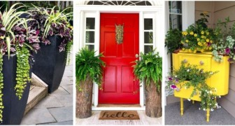 Laissez-vous inspirer par ces idées fantastiques pour décorer l'entrée de votre maison avec de très belles jardinières