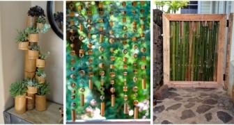 Utilisez les tiges de bambou pour décorer avec goût et créativité votre maison et votre jardin