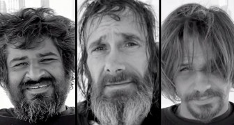 They invite some homeless for a haircut: their reaction is priceless !