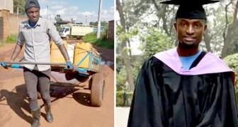 Un joven humilde logra graduarse trabajando de vendedor ambulante de agua con su padre