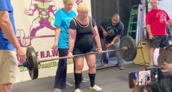 Uma bisavó de 100 anos quebra todos os recordes e se torna uma campeã de levantamento de peso