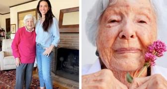 Une arrière-grand-mère devient mannequin à 99 ans grâce à l'aide de sa petite-fille et de ses cosmétiques