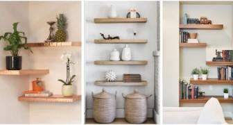Laissez-vous inspirer par ces fantastiques idées pour décorer la maison avec des étagères suspendues