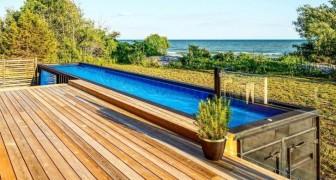 Un'azienda trasforma i container metallici in piscine intelligenti e sostenibili