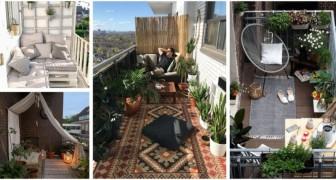 Hai un balcone che non usi mai? Lasciati ispirare da queste idee per trasformarlo in un fantastico salottino