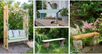 Rendi più comodo e piacevole il giardino aggiungendo una panchina, ne puoi costruire anche col fai-da-te