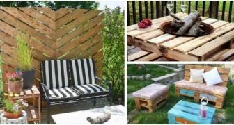 Votre jardin a besoin de nouveaux meubles et décorations ? Vous pouvez en réaliser beaucoup avec des palettes