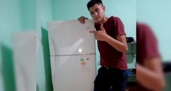 Un joven se va a vivir solo y festeja en Twitter la compra de la nueva heladera: Para mí es un gran objetivo