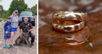 Sie findet ihren im Sand verlorenen Ehering dank der Hilfe eines Polizeihundes wieder