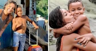 """Atriz adota criança que morava em aterro: """"Ele me ensinou a ser mais grata pela vida"""""""