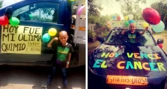 Mit nur 6 Jahren besiegt dieser Junge seinen Krebs und feiert das Ende der Chemotherapie: eine befreiende Party