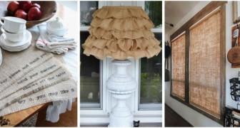 Utilisez la toile de jute pour décorer la maison dans un style rustique avec des accessoires et des décorations irrésistibles