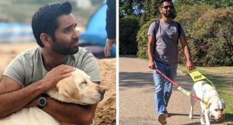 Hij verliest plotseling zijn gezichtsvermogen, maar vindt hoop dankzij een geleidehond: Hij gaf me mijn vertrouwen en onafhankelijkheid terug