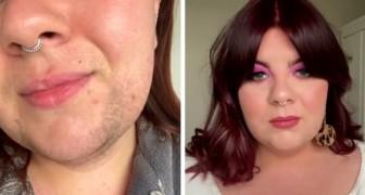 Dit meisje toont haar baard op video en verdedigt zichzelf tegen kritiek van degenen die haar vertellen dat ze op een man lijkt