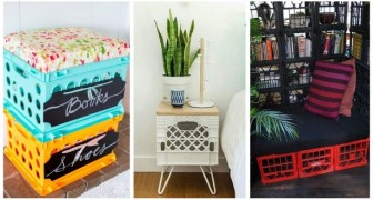 Recyclez les caisses en plastique pour créer des compléments d'ameublement créatifs et fonctionnels