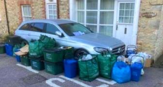 Parken im Halteverbot und Blockieren des Müllwagens: Anwohner nehmen Rache