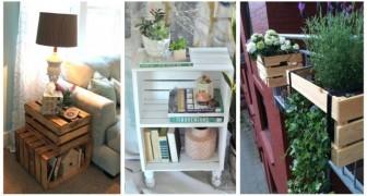 Pour décorer la maison et le jardin avec des détails rustiques, vous pouvez recycler les caisses en bois