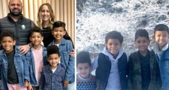 Coppia adotta 4 fratellini per non separarli: ora vivono tutti felicemente insieme