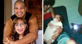 44 jaar geleden adopteerde ze de pasgeborene die voor haar deur was achtergelaten: vandaag bedankt hij haar voor alle liefde