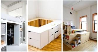 Utilisez un lit compact pour éviter les encombrements inutiles dans la chambre