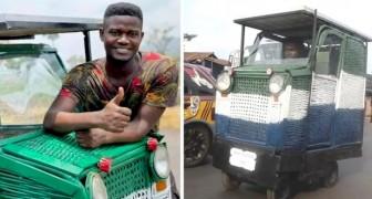 Mit 24 Jahren baut er aus Ausschussware und Müll ein Auto, das nachhaltig ist und auch von Behinderten gefahren werden kann