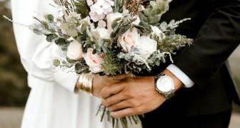 Ze doet alsof ze de bruiloft afzegt om familieleden niet uit te nodigen, maar wordt verraden door de foto's van de gebeurtenis op sociale media