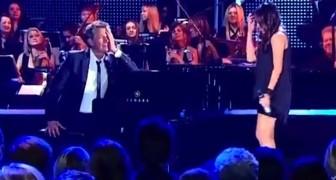 Sie singt einen berühmten Song von Celine Dion und der Pianist kann es gar nicht fassen. Wahnsinn