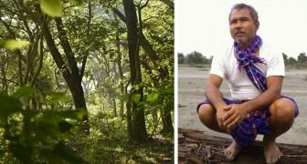 Hij plant 40 jaar lang elke dag een boom: nu heeft hij een weelderig bos van 550 hectare gecreëerd