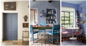 Viola, bluette e grigio azzurro: arreda la casa con le sfumature dei campi di lavanda della Provenza