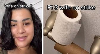 Il marito dice di essere l'unico a pulire casa: lei smette di fare le faccende per una settimana