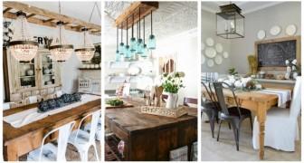 Inspirez-vous de ces très belles idées et décorez votre salle à manger dans un style farmhouse vraiment parfait