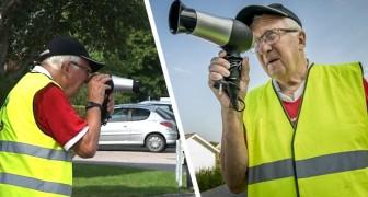 Hij gebruikt een föhn als snelheidscamera om auto's te vertragen: de vondst van deze oude man