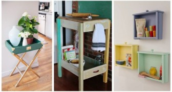 Recyclez les vieux tiroirs de façon créative : vous pourrez créer des meubles et des accessoires vraiment sympas